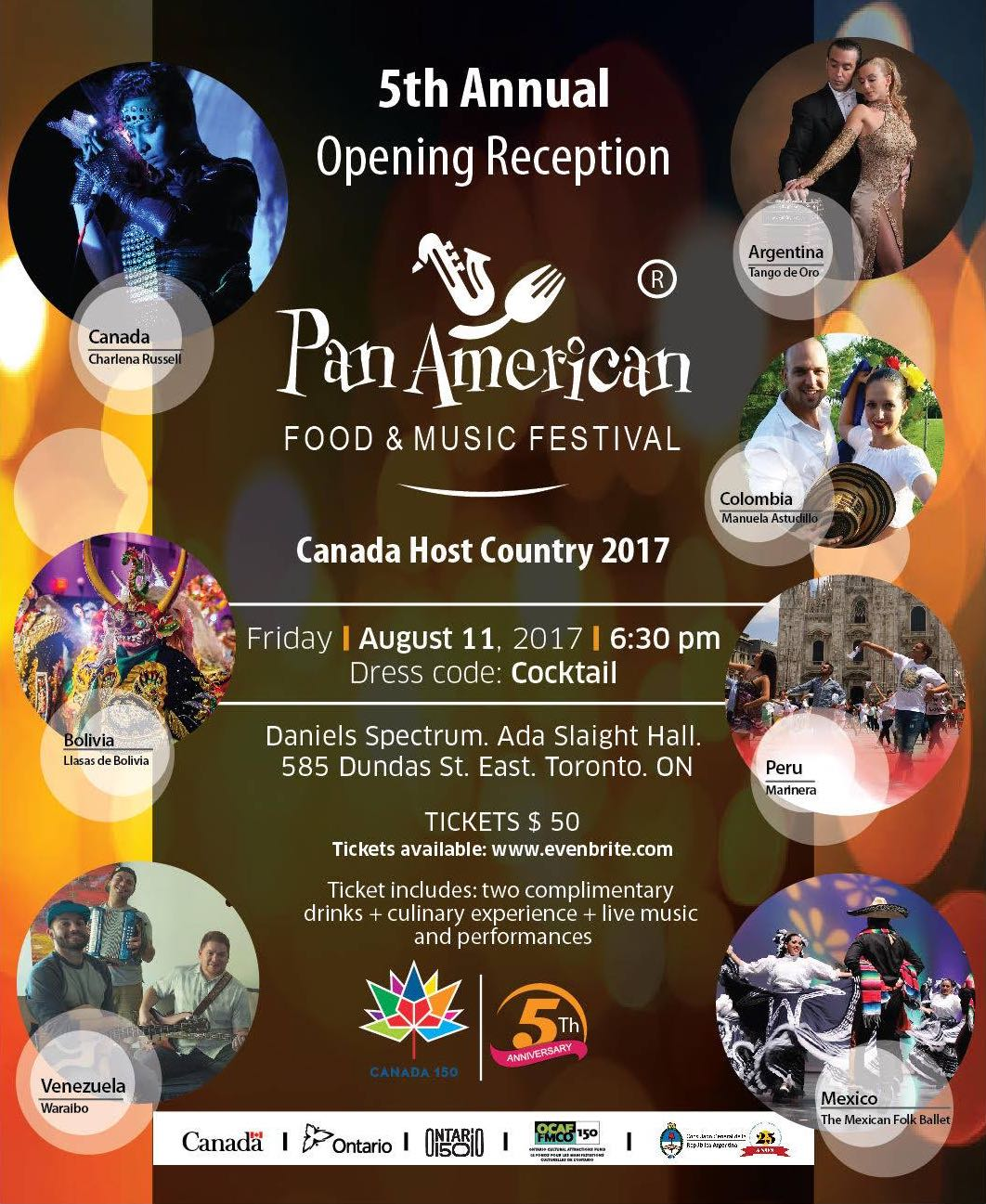Pan American Food Music Festival August