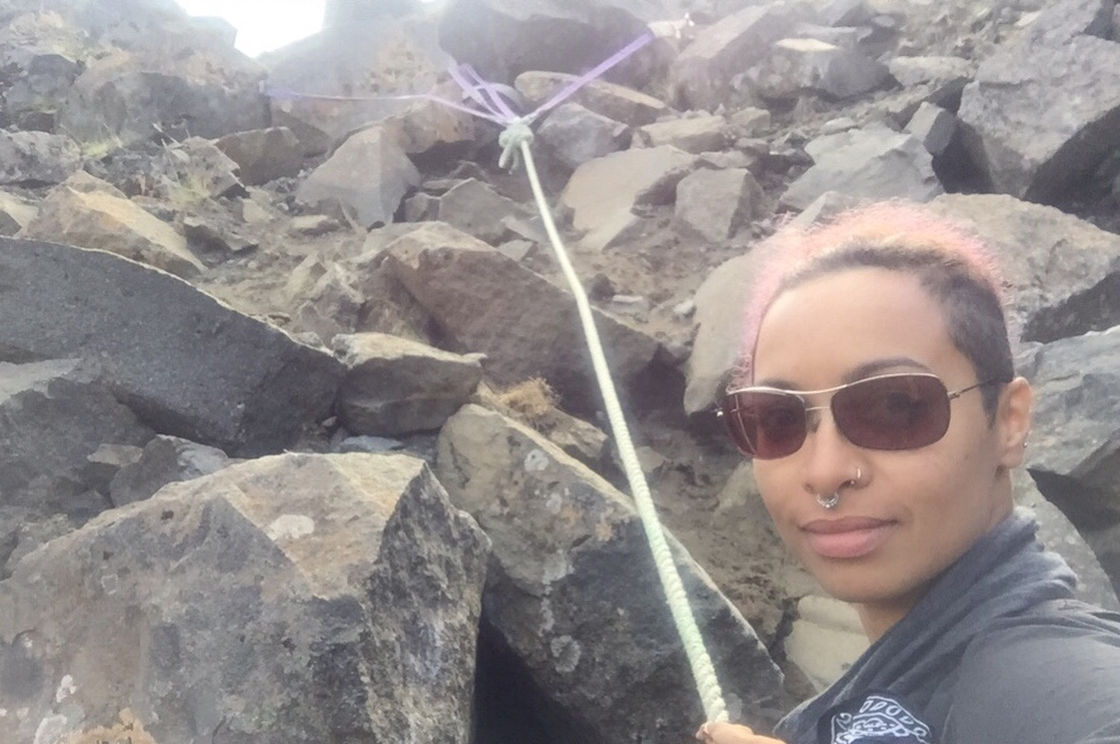 Charlena-Russell-Iceland-cliff-climbing