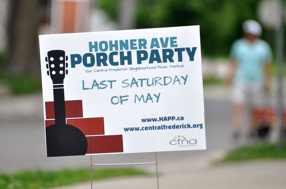 Hohner Ave Porch Party – Sat. May 27, 2017